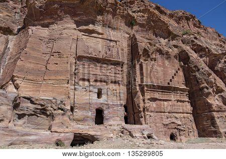 Silk Tomb - One Of Royal Tombs. Petra, Jordan. No People