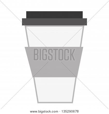 disposable coffee cup with lid vector illustration