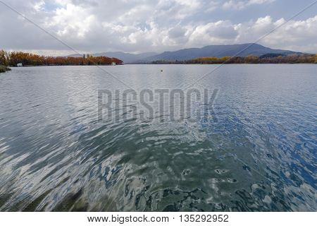 Lake Banyoles is the largest lake in Catalonia girona Spain