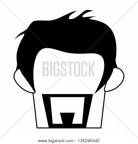man with hipster haistyle and beard vector illustration