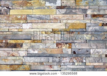 Stone Veneer Mineralized Quartz Rock Ledge Wall