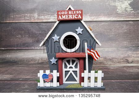 Patriotic Bird House