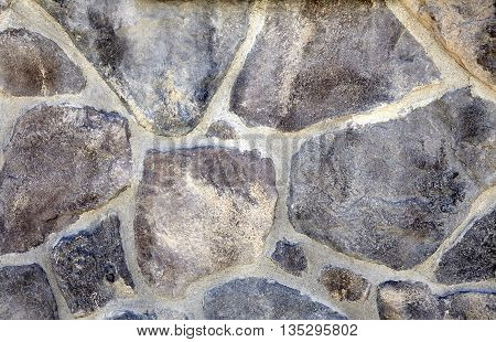 Decorative Stone Rock Veneer Mortar Wall