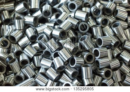 Polished Rollers Made Of Steel On Lathes And Milling Machines