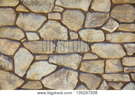 Rubble Limestone Rock Mortar Wall