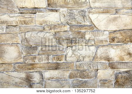 Sandstone Random Mineralized Mortar Wall