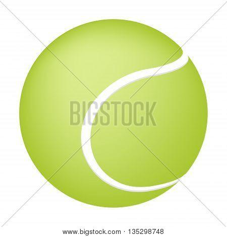 Tennis ball on white background. Concept illustration for design.