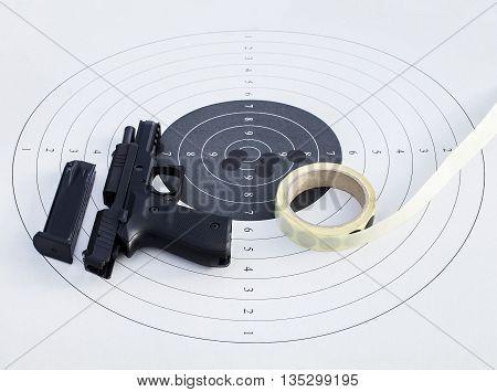 Gun On A Target