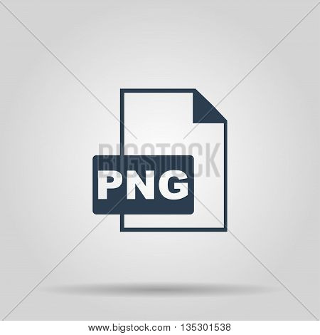 PNG Icon. Vector concept illustration for design.