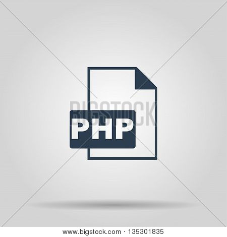 PHP file extension. Concept illustration for design.