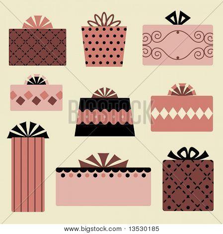 vector gift box set design