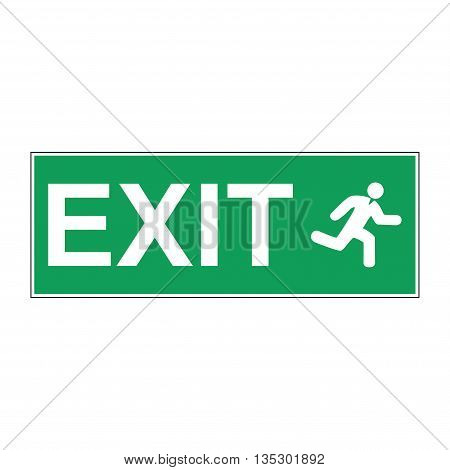 Emergency exit vector sign. Concept illustration for design.