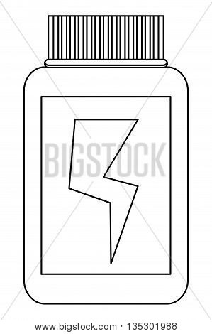 simple black line container dietary supplement with lightning bolt in the center