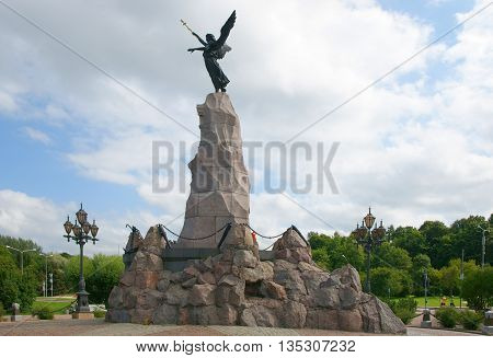 Monument battleship Mermaid in Kadriorg in Tallinn