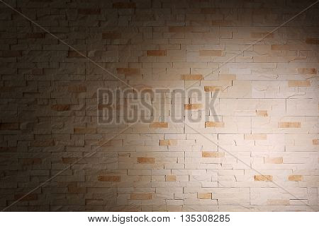 Brick wall background with shadow
