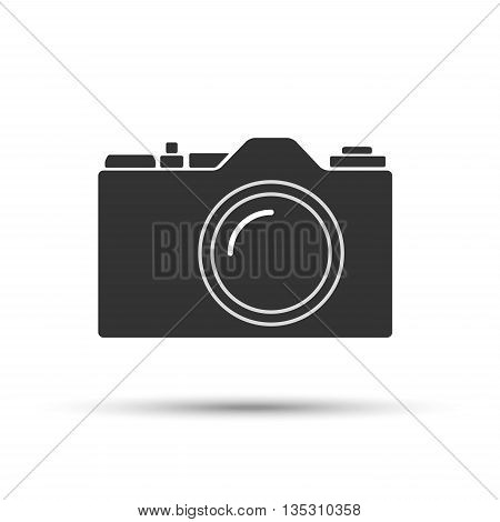 Common SLR camera icon sign isolated on white background