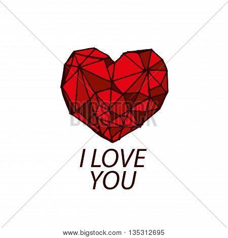 Pattern abstract vector heart logo. Declaration of love