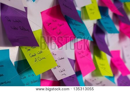 Colourful Sticky Notes With Things To Do