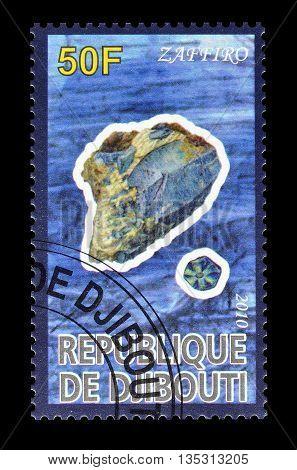 DJIBOUTI - CIRCA 2010 : Cancelled postage stamp printed by Djibouti, that shows Zaffiro.