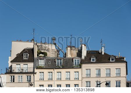 Mansard Roofs Of Paris