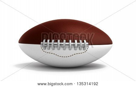 American Football Ball 3D Render Isolated On White Background