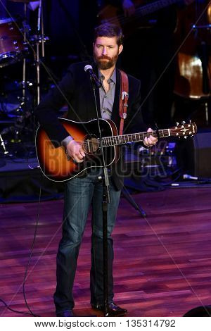 NASHVILLE, TN-SEP 1: Josh Turner performs onstage during the 9th Annual ACM Honors at the Ryman Auditorium on September 1, 2015 in Nashville, Tennessee.