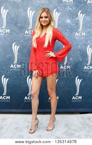 NASHVILLE, TN-SEP 1: Kelsea Ballerini attends the 9th Annual ACM Honors at the Ryman Auditorium on September 1, 2015 in Nashville, Tennessee.