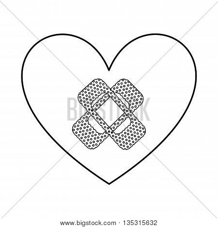 heart with bandages isolated icon design, vector illustration  graphic