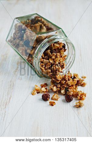 Granola In A Glass Jar