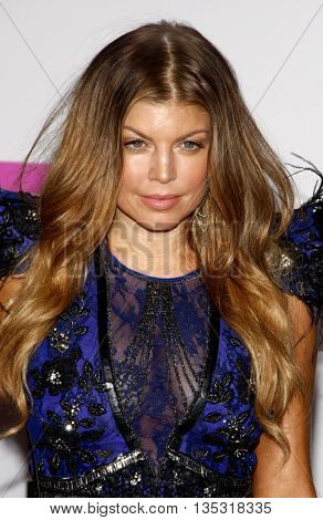 Fergie at the 2010 American Music Awards held at the Nokia Theatre L.A. Live in Los Angeles, USA on November 21, 2010.