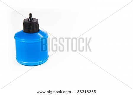 Plastic Glue Container Isolated On White