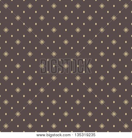 Seamless geometric vector pattern. Modern ornament with golden elements