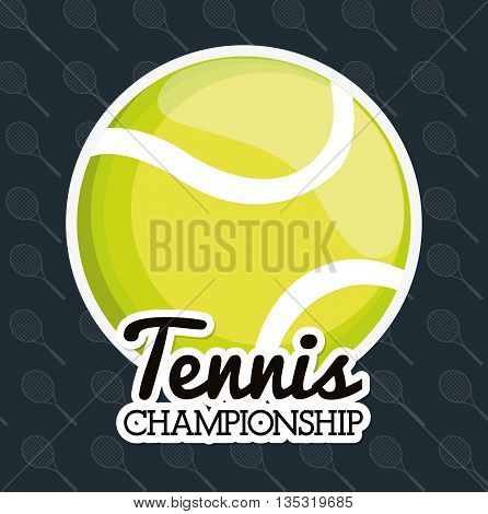 Sport  concept with tennis icon design, vector illustration 10 eps graphic