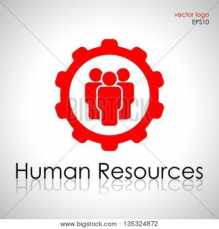 Human resources management logo, employment career system