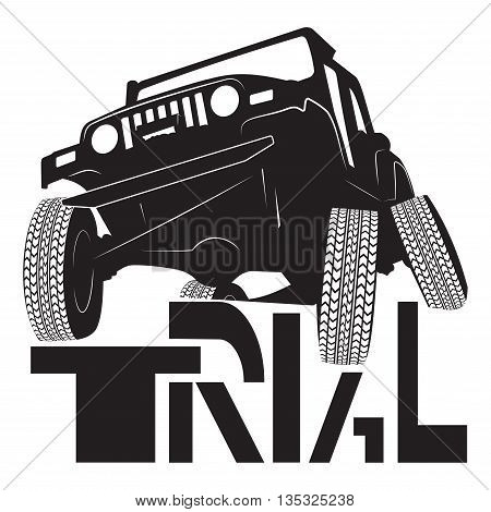 Logo trial cars cartoon sketch print illustration