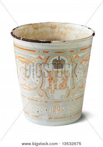 Vintage  Cup With  Nicholas Ii Emblem