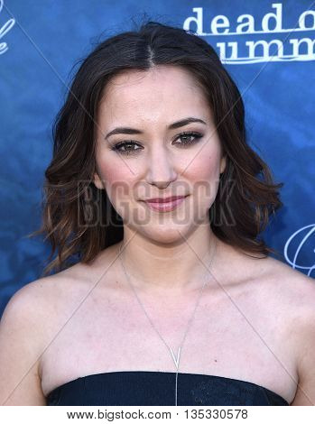 LOS ANGELES - JUN 15:  Zelda Williams arrives to the arrives to the Pretty Little Liars Season 7 Event  on June 15, 2016 in Hollywood, CA.