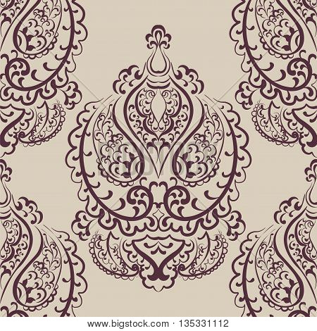 Vector Vintage Empire motif ornament pattern design. Traditional oriental style. Design element for wedding invitation cards backgrounds fabric texture etc. Red color