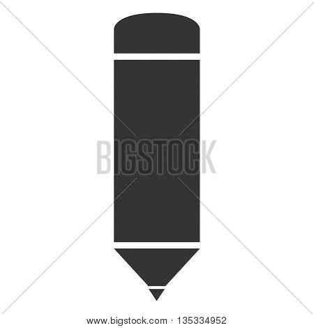 simple sharp grey pencil vector illustration flat icon style