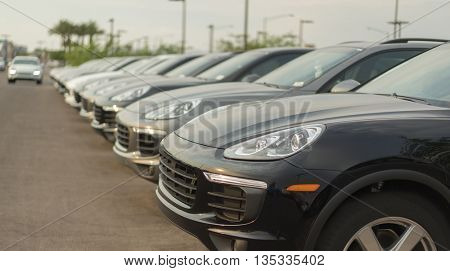 Cars on lot of dealership