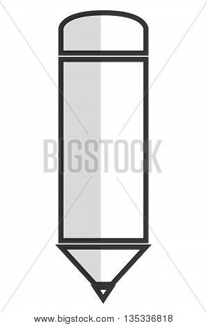 simple line sharp pencil vector illustration flat icon style