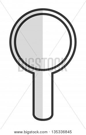 simple magnifying glass icon vector illustration flat icon style