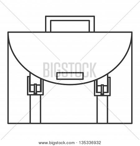 briefcase with handle on top vector illustration