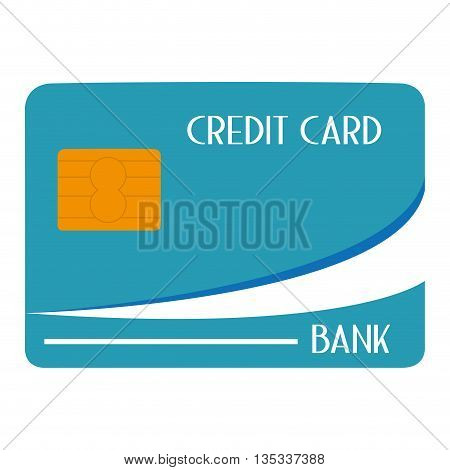 blue and yellow credit card with yellow letters vector illustration