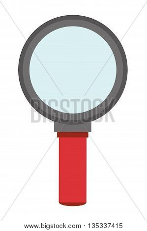 red and grey magnifying glass vector illustration