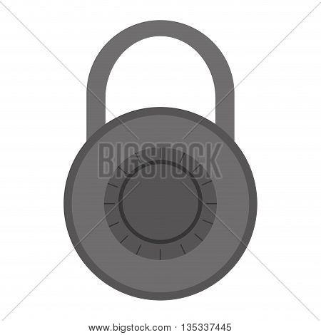 grey safety lock with password vector illustration