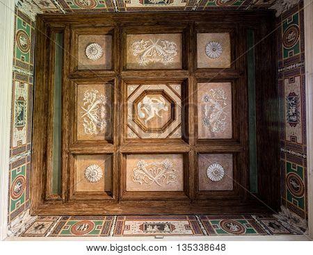 Ceiling Frescoes Of Palazzo Te In Mantua