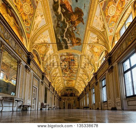 Interior Of The Mantua's Ducal Palace