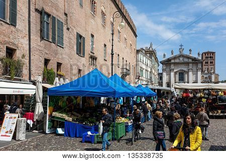 Flea Market In Mantua, Italy