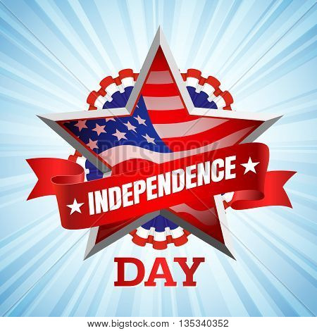The fourth of July, American Independence Day background vector